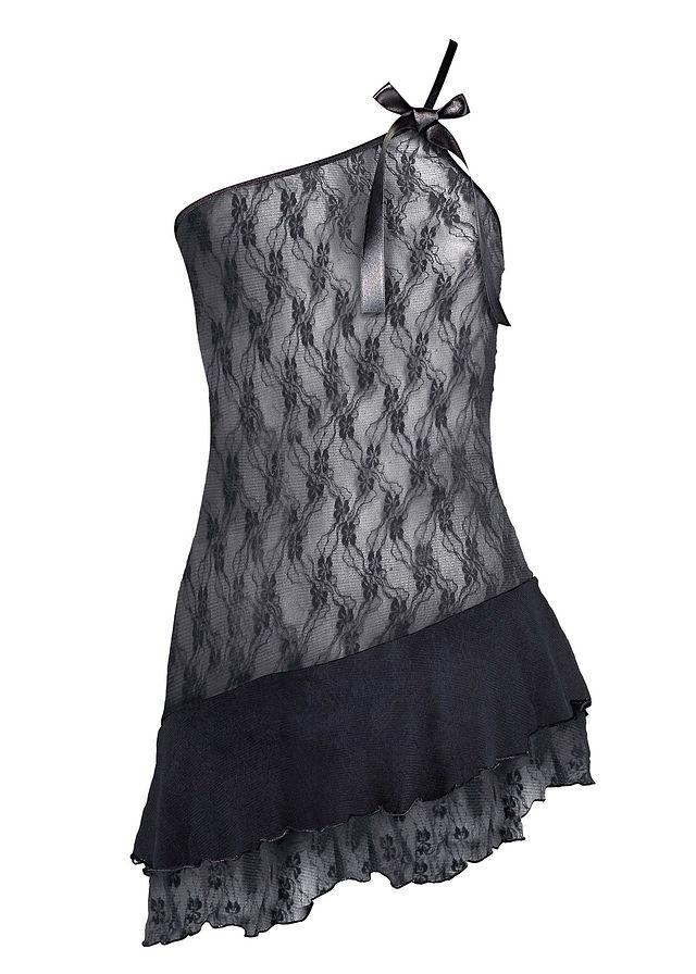 Negližé čierna Z ľahko transparentnej • 16.99 € • bonprix e8a13aa48de