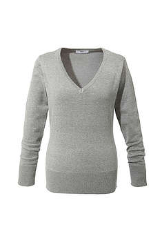 Sweter z dekoltem w serek-bpc bonprix collection