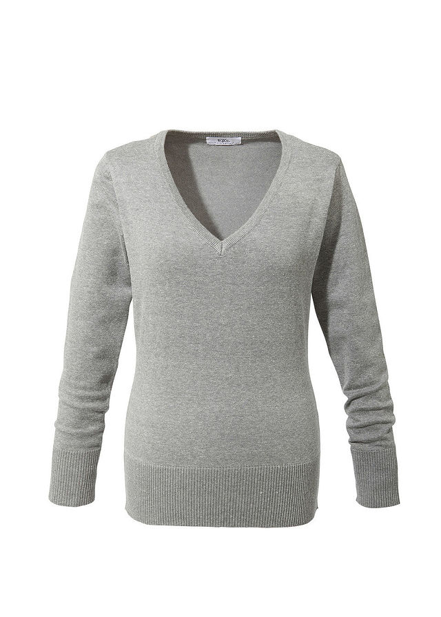 bonprix Sweter z głębokim dekoltem w serek: MUST HAVE