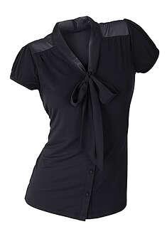 Bluzka shirtowa czarny Kobieca elegancja