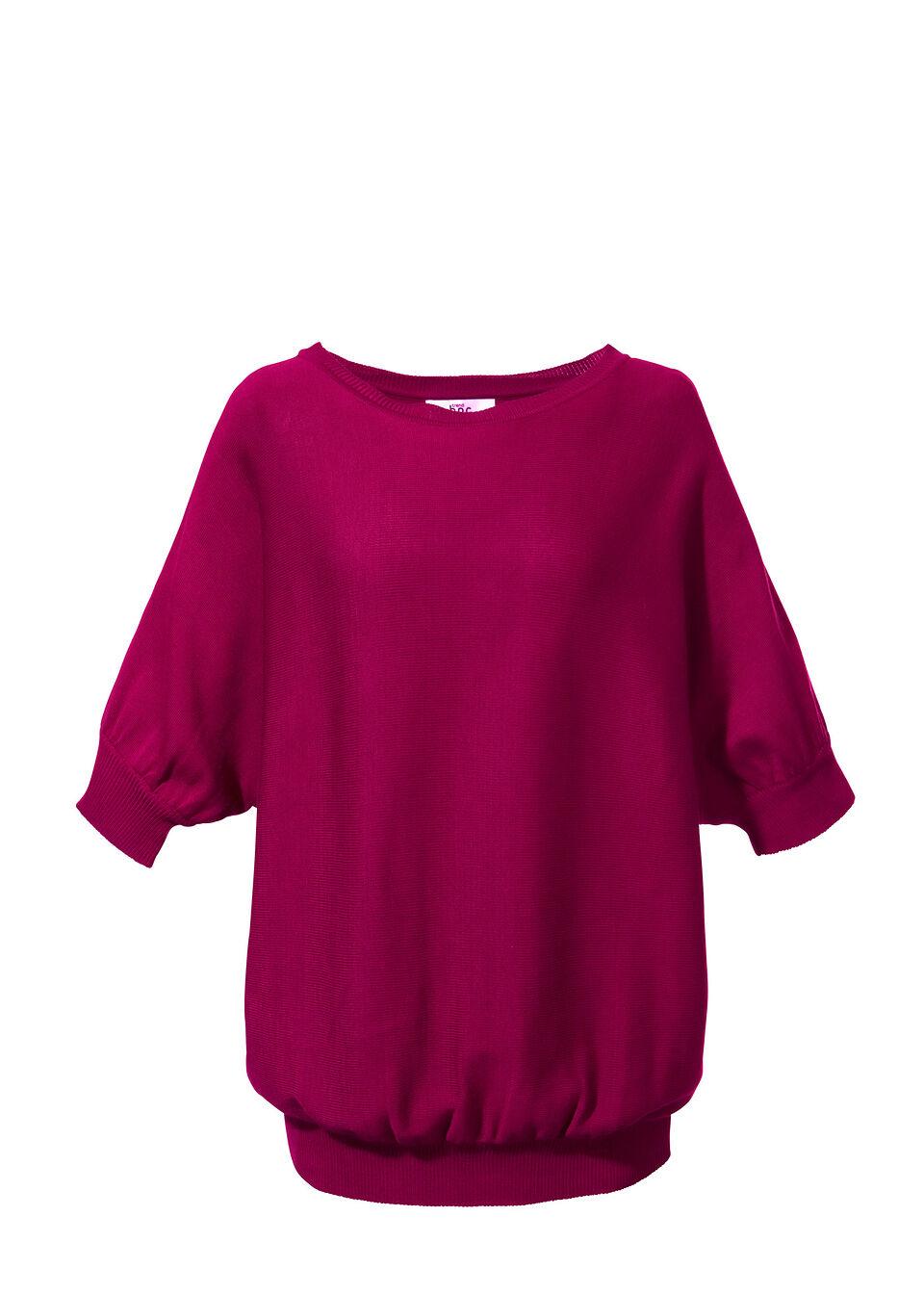Sweter bonprix jeżynowy