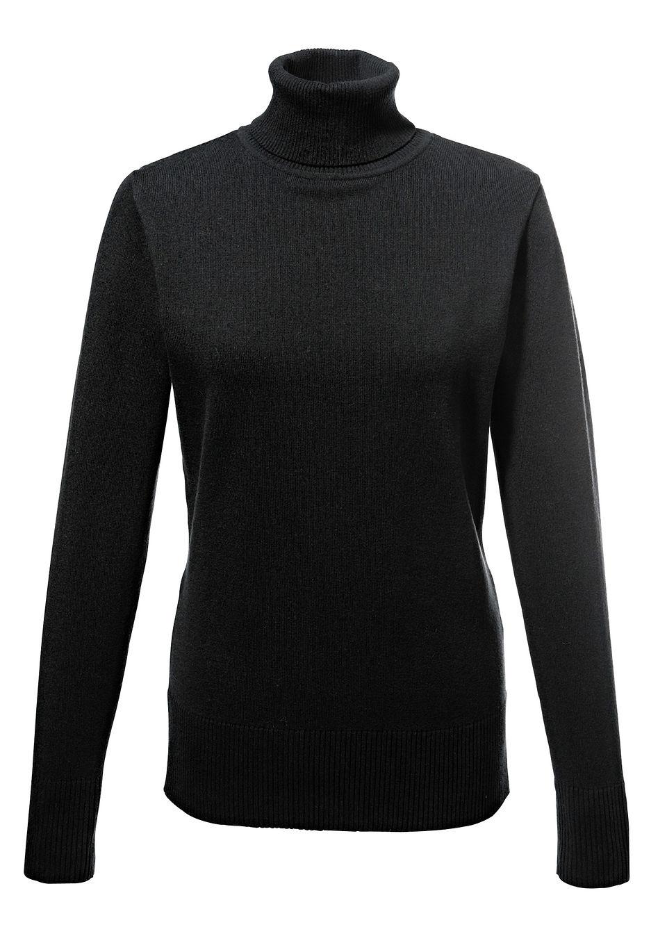 Пуловер с высоким воротом от bonprix