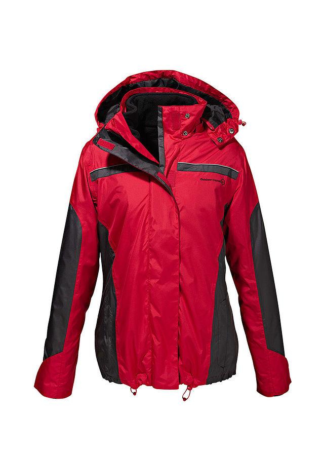 1357f7f43466 3-az-1-ben kabát piros/fekete Levehető • tól 12999.0 Ft • bonprix