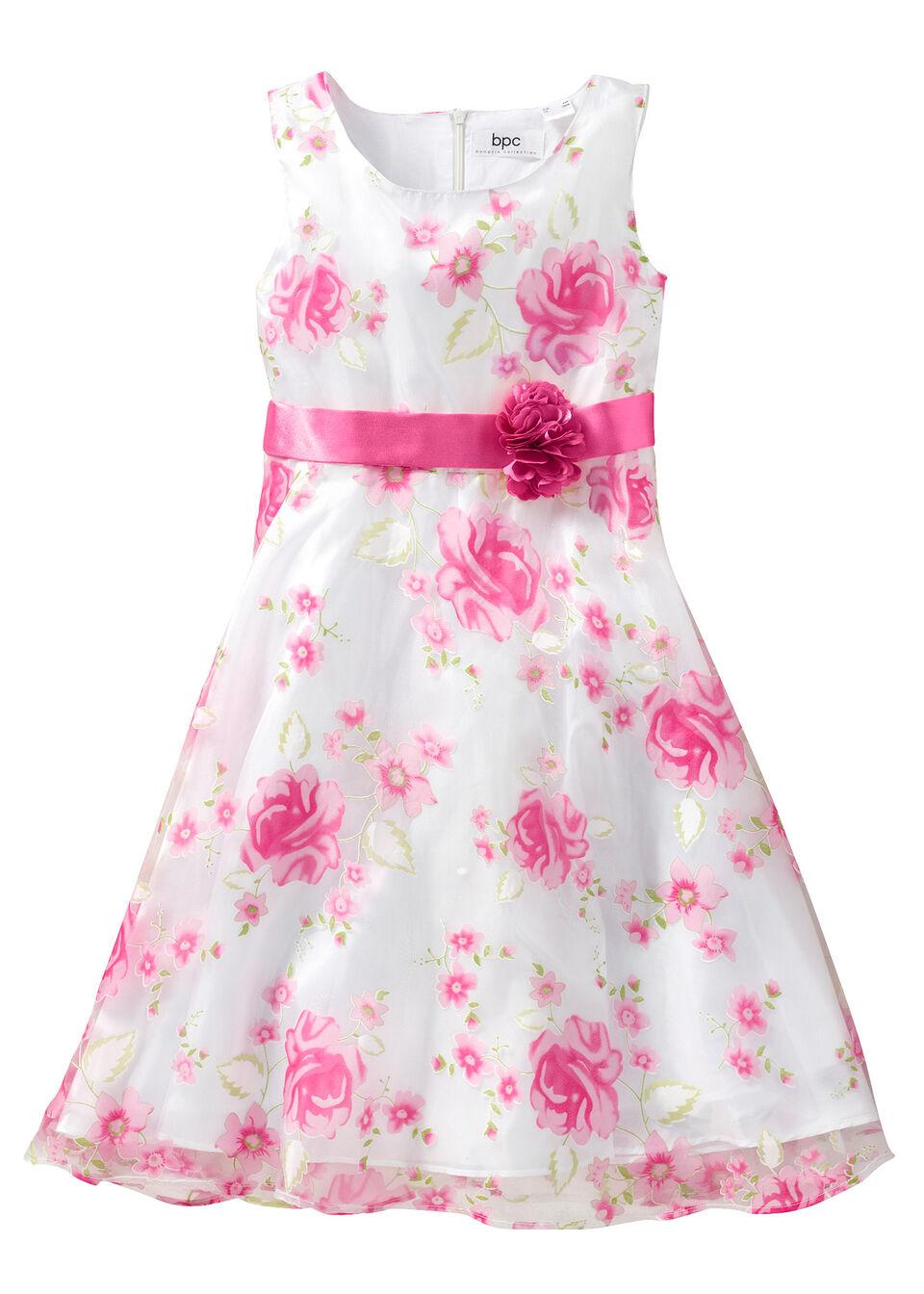 87cec98847 Sukienka na uroczyste okazje bonprix biało-różowy. Bonprix · Sukienki