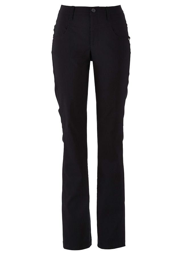6f429022 Spodnie wyszczuplające z bengaliny ze stretchem BOOTCUT