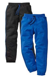 Spodnie chłopięce dresowe (2 pary) czarny + lazurowy