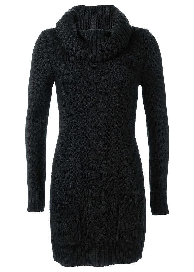 Вязаное платье черный Модное платье с • 749.0 грн • bonprix 51f4186e717