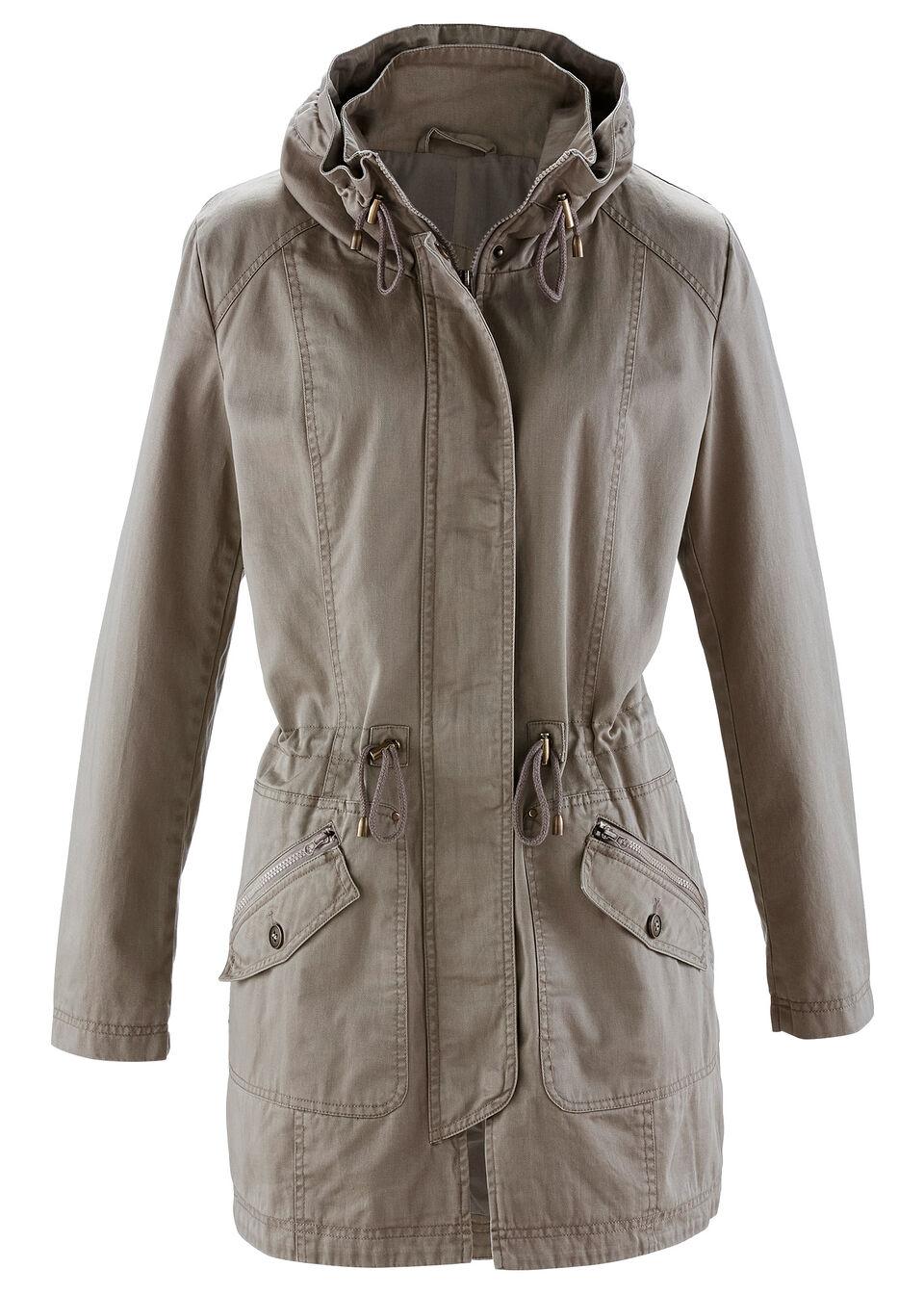 Купить Куртки и плащи, Парка из хлопка, bonprix, серо-коричневый