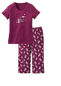 Pijama capri mov/alb bpc bonprix collection 0