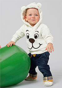 Bluză bebe din fleece crem bpc bonprix collection 1