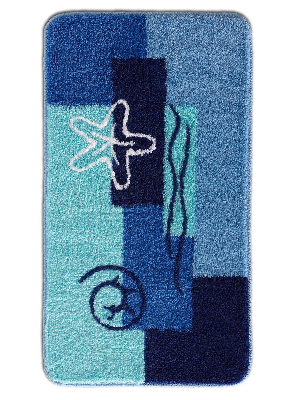 Dywaniki łazienkowe z miękkim runem bonprix niebieski