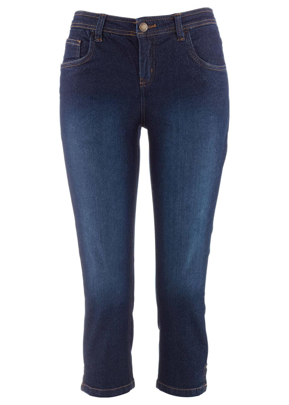Капри джинсовые стрейч от bonprix