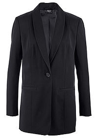 Blazer lung negru bpc bonprix collection 0