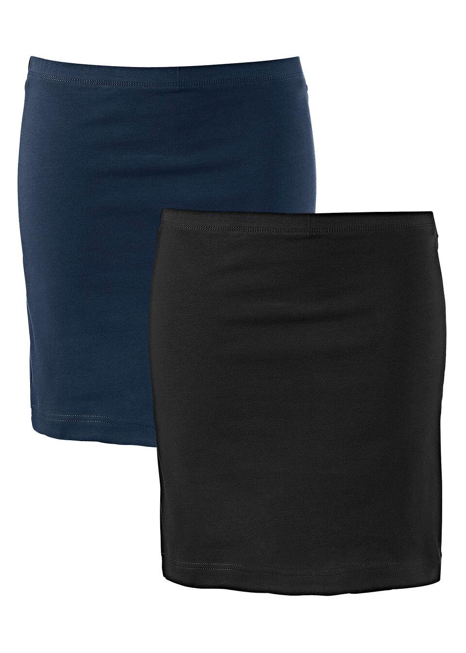 Трикотажная юбка стрейч (2 шт.) от bonprix
