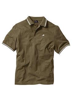 Shirt polo ciemnooliwkowy Z oddychającej