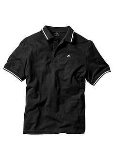 Shirt polo czarny Z oddychającej bawełny