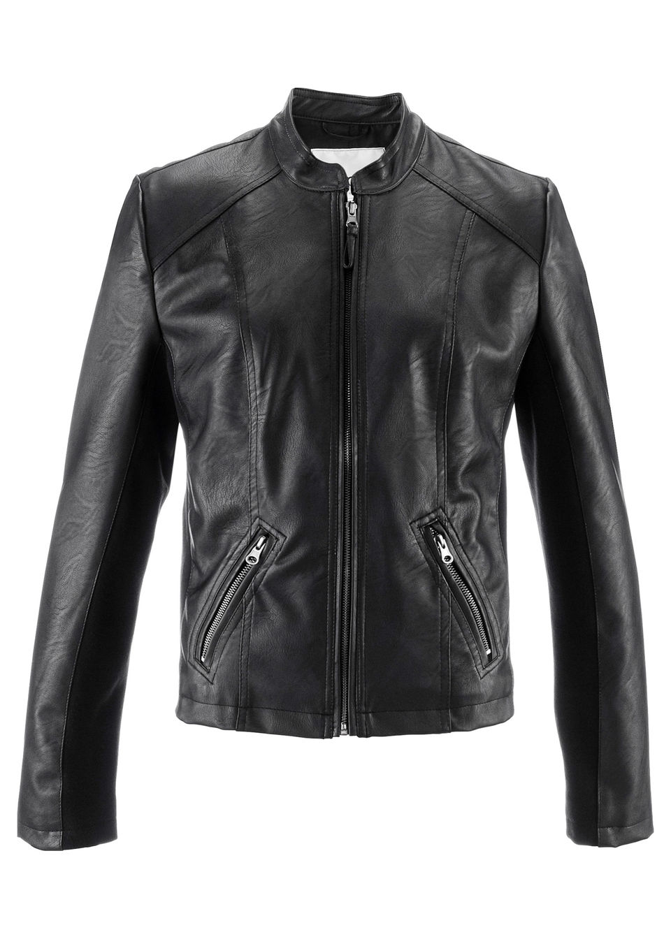 Фото - Куртку из искусственной кожи от bonprix черного цвета