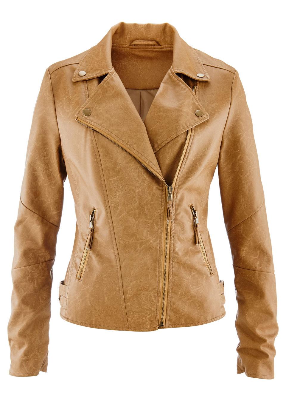 Купить Куртки и плащи, Куртка из искусственной кожи, bonprix, коньячный