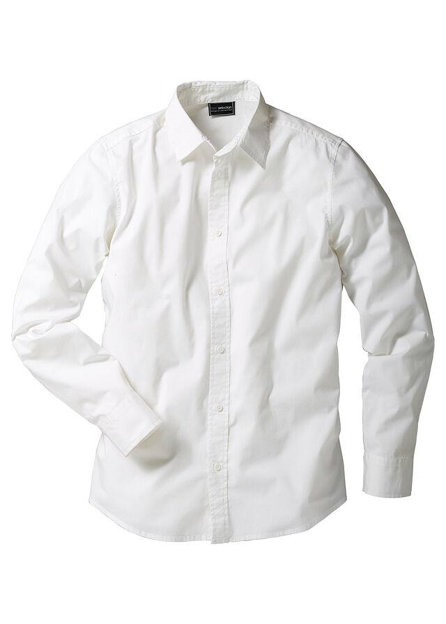 d11e04839589 Strečová košeľa Slim Fit biela V • 16.99 € • bonprix
