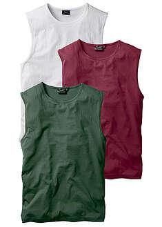Shirt bez rękawów (3 szt.) Regular Fit-bpc bonprix collection
