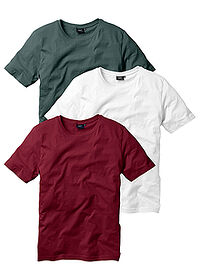 Tricou (3buc/pac) bordo+verde inchis+alb bpc bonprix collection 0