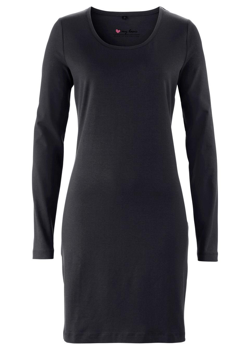 Платье стретч с длинным рукавом от bonprix