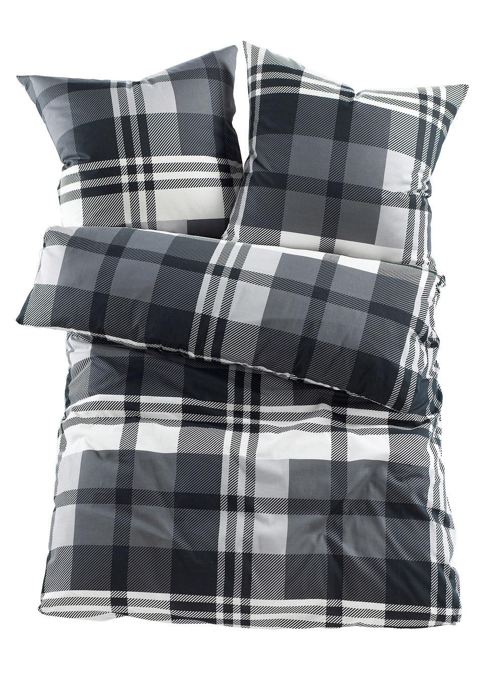 """tekstylia do sypialni pościel """"curt"""" bonprix czarny - bonprix"""