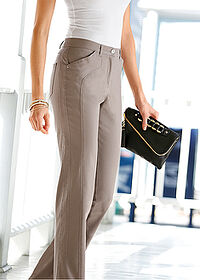 Pantaloni stretch, confortabili gri-bej bpc selection 5