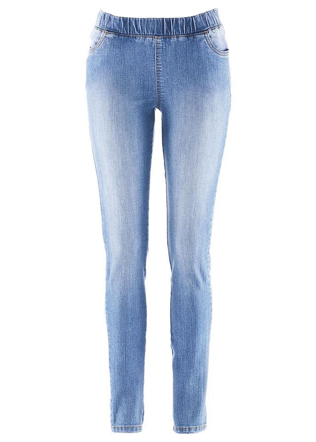 61302f87dfa Джегинсы-стретч голубой Пояс с • 599.0 грн • bonprix