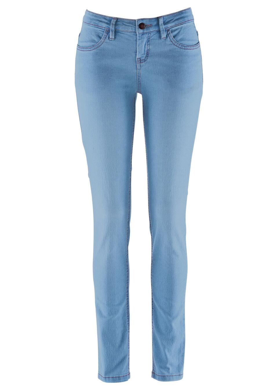 Wygodne dżinsy ze stretchem SKINNY bonprix jasnoniebieski
