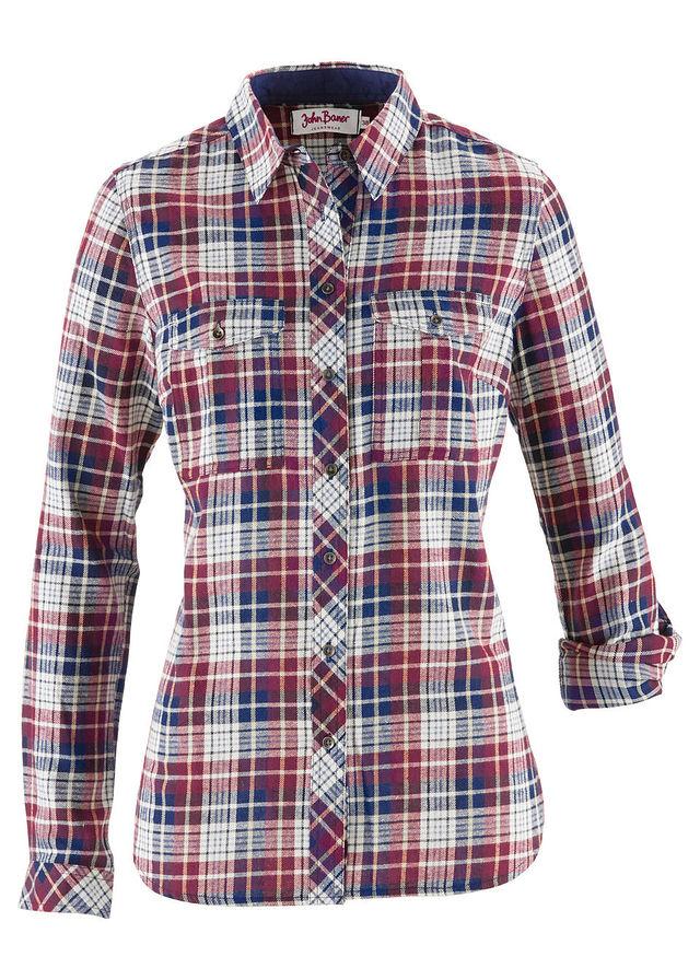 6e2de4770508 Flanelová košeľa bordová prírodná tmavomodrá károvaná • 16.99 € • bonprix