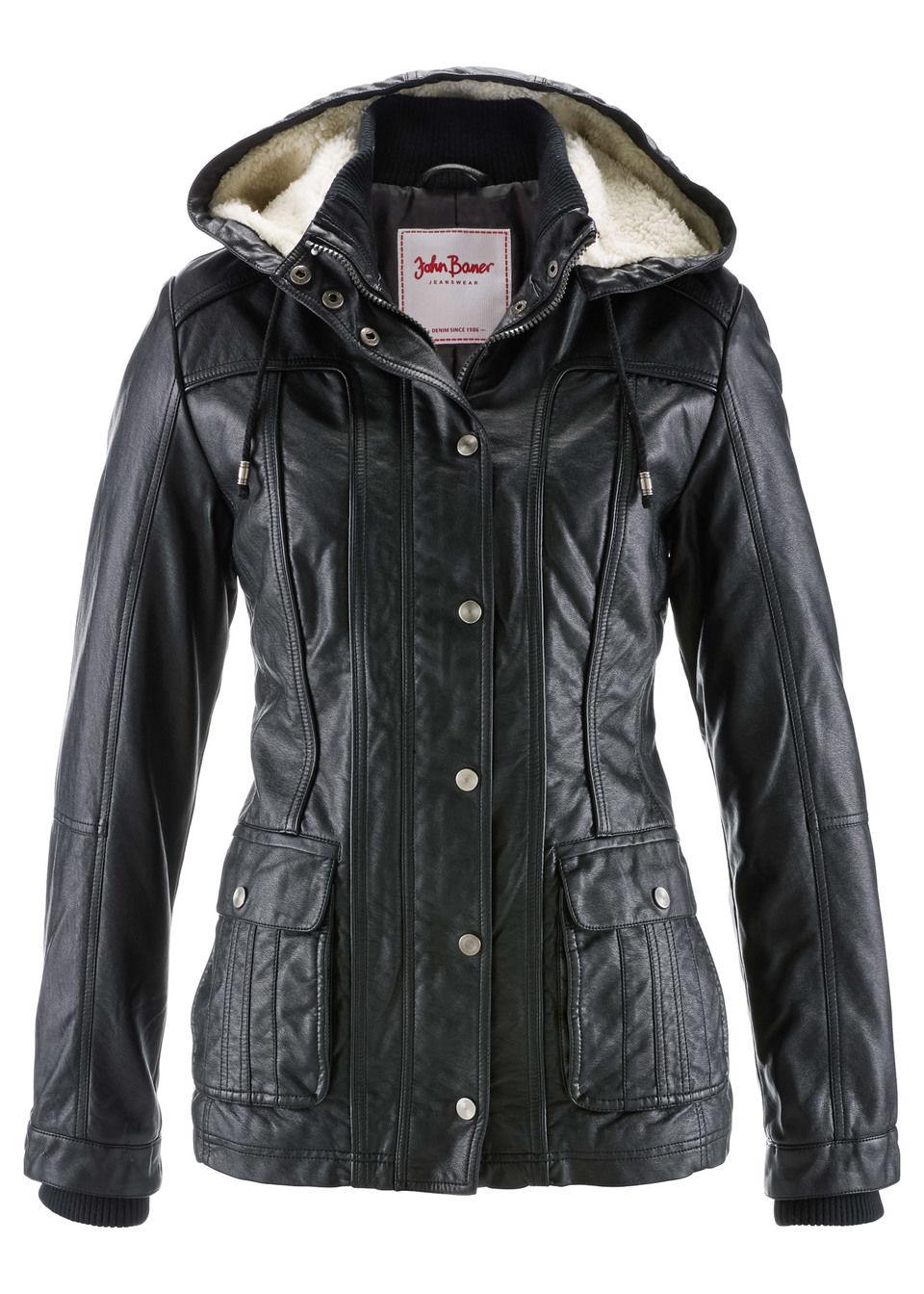Куртка из искусственной кожи от bonprix