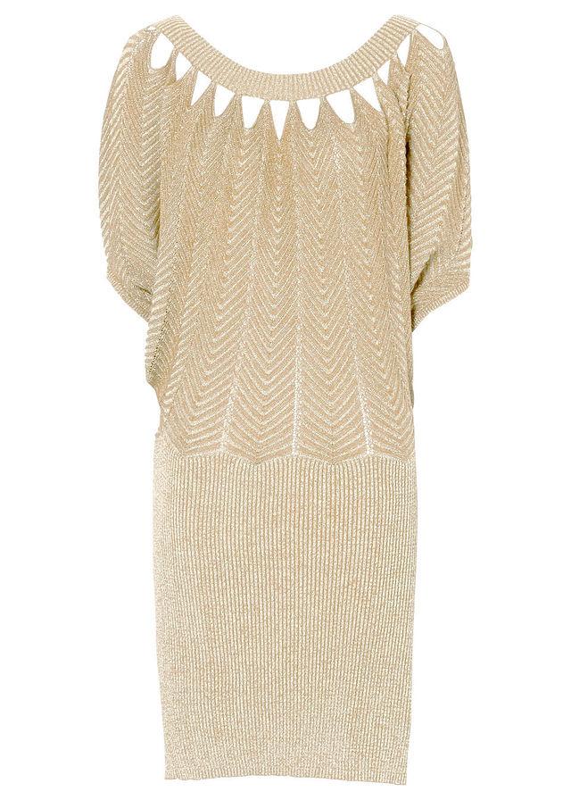 Šaty béžová zlatá Skvelé oblečenie • 34.99 € • bonprix 7e25af3e991