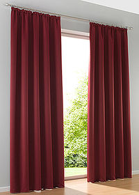 Draperie opacă uni (1buc/pac) bordo bpc living bonprix collection 0
