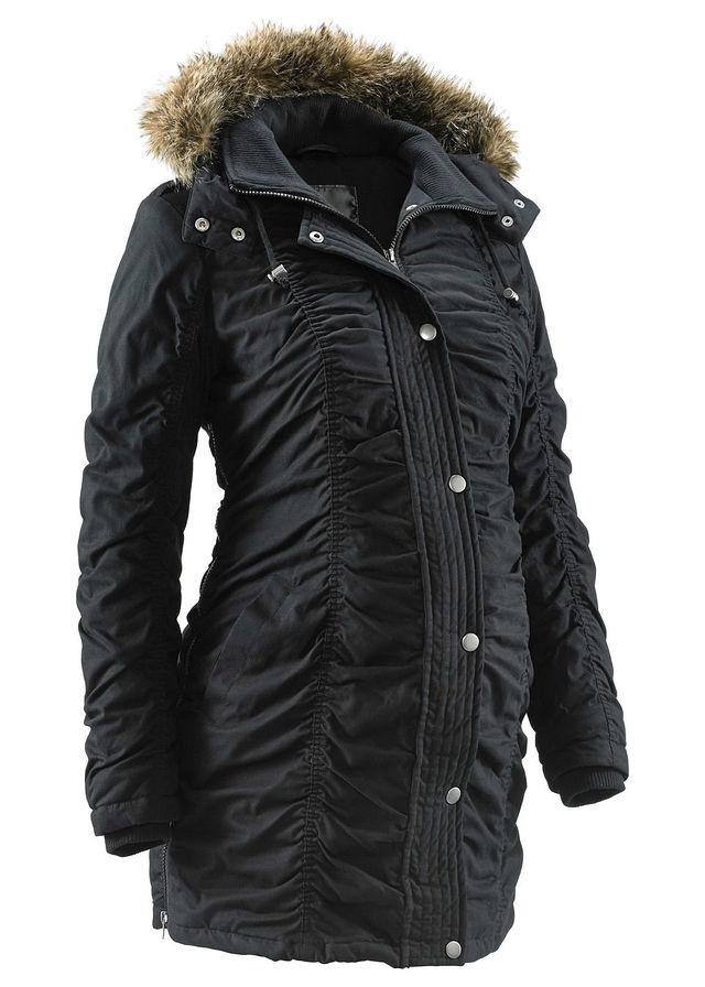 5c4cac56da4267 Zimowa kurtka ciążowa czarny Atrakcyjna • 249.99 zł • bonprix
