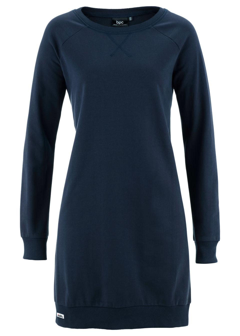Sukienka dresowa bonprix ciemnoniebieski