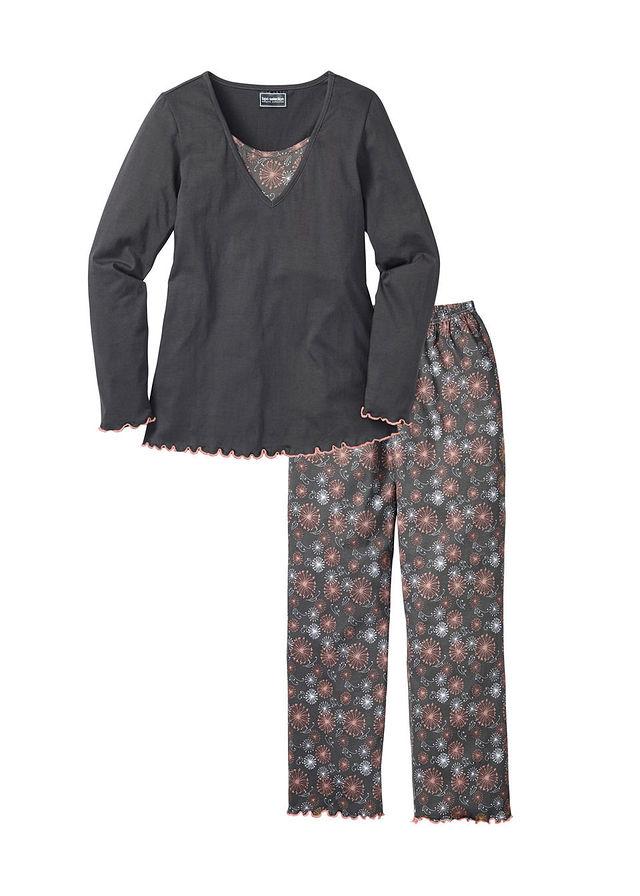 Pizsama szürke mintás Felsőrésze réteges • 4999.0 Ft • bonprix 9a99d9f66c