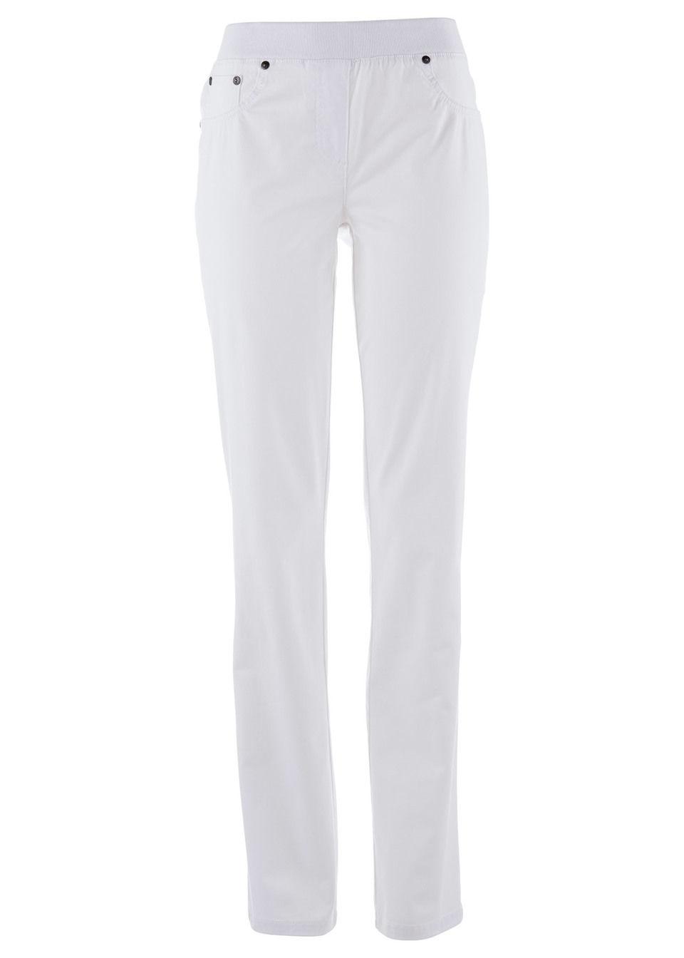 Pantaloni cu bată ripsată bonprix