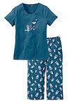 Pijama capri petrol/alb bpc bonprix collection 1
