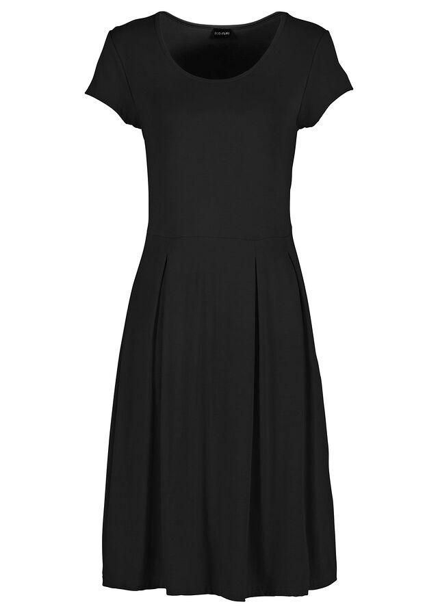d8628c5716c2d Sukienka letnia z dżerseju czarny • 74.99 zł • bonprix