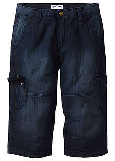 Dżinsy 3/4 Regular Fit Straight ciemnoniebieski