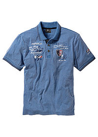 Tricou polo regular fit albastru denim bpc selection 0