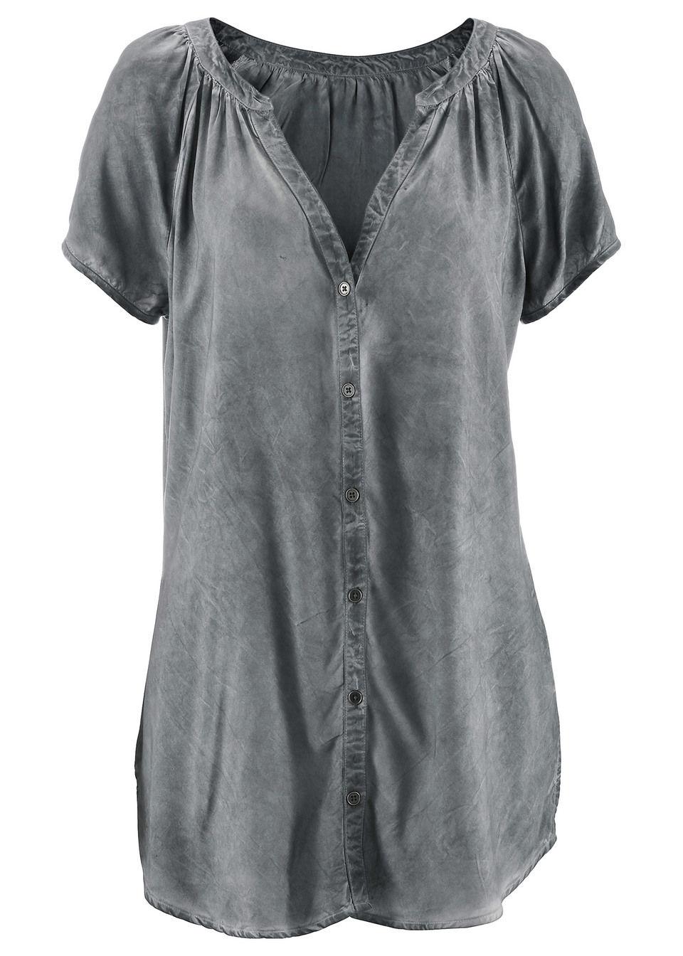 Блузка с коротким рукавом и переходом оттенков