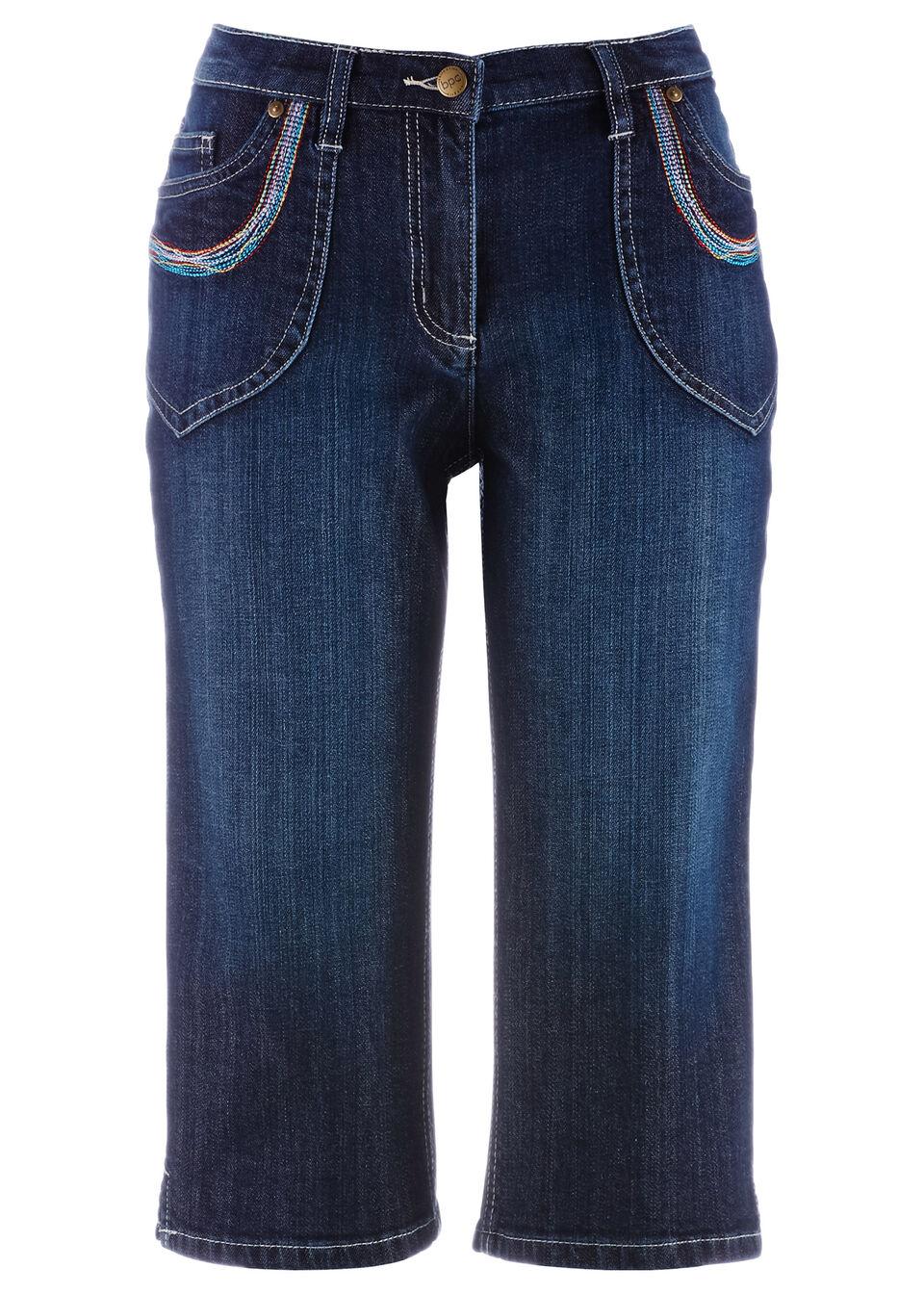 Эластичные джинсы-капри от bonprix