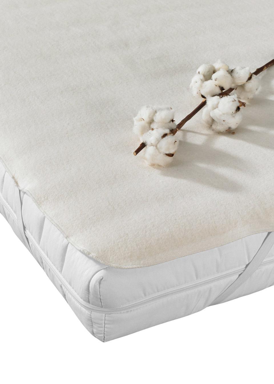 """tekstylia do sypialni podkład na materac """"kałmuk"""" z gumkami bonprix kremowy - bonprix"""