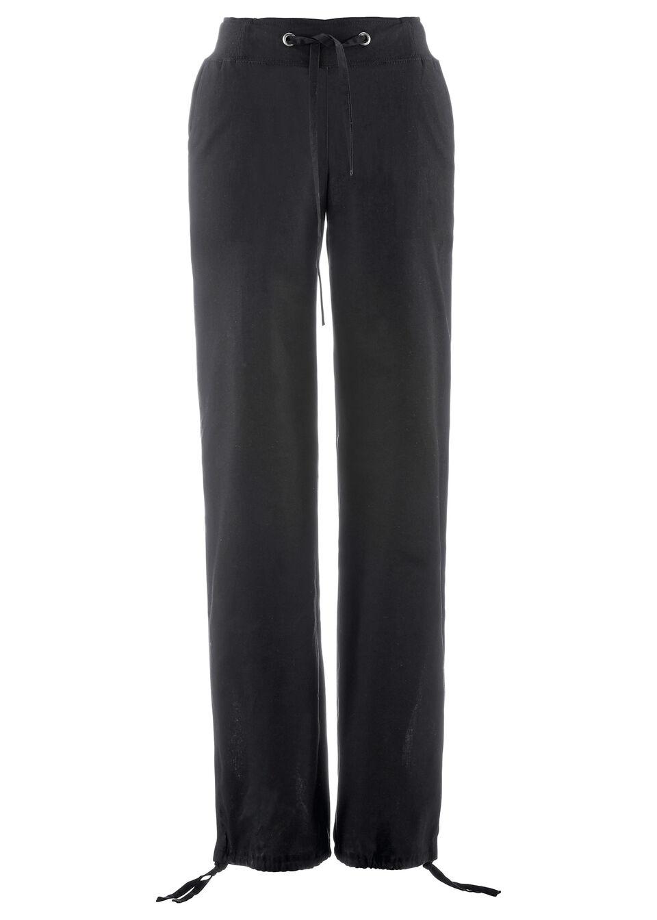 Pantaloni din in cu bată ripsată bonprix