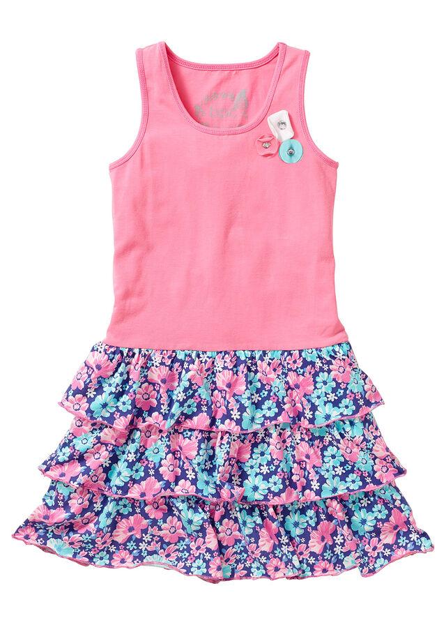 Fodros ruha rikító rózsaszín mintás • 3999.0 Ft • bonprix 12179b2852