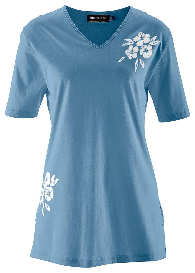 06fb2b69f31e Dlhé tričko modrá   biela s potlačou • 7.99 € • bonprix
