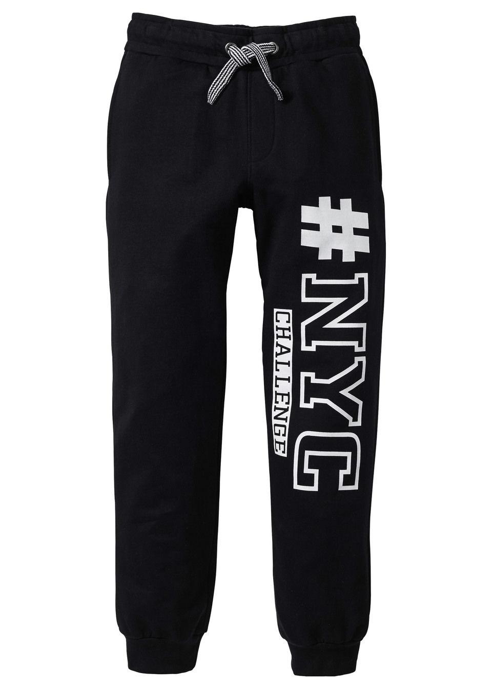 Трикотажные брюки со стильным принтом от bonprix