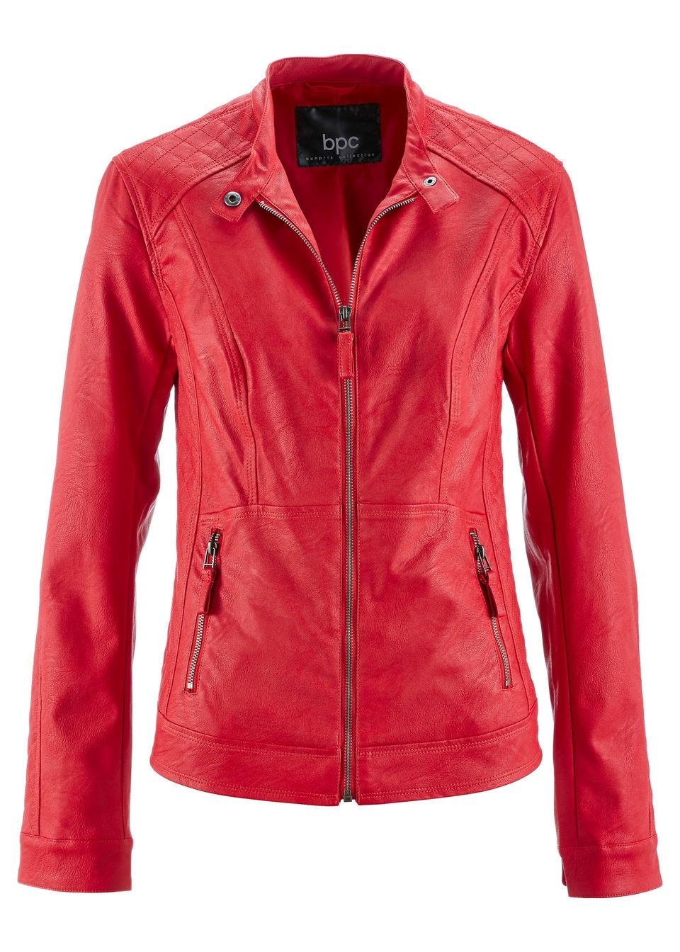 Купить Куртки и плащи, Куртка из искусственной кожи, bonprix, красный
